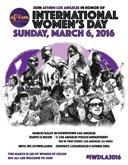 3/6 – International Women's Day March & Rally