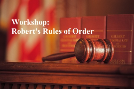 "9/17 – Freedom School: ""Understanding Robert's Rules of Orders"""
