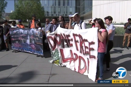 ABC and L.A. Times Coverage of Stop LAPD Spying Coalition Call to Action: Stop LAPD Drones