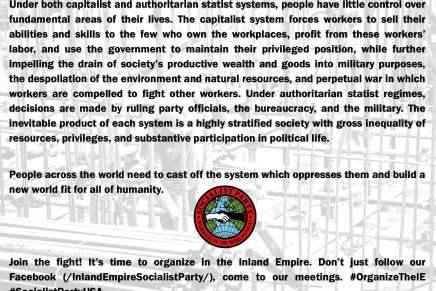 Organize in the InlandEmpire!